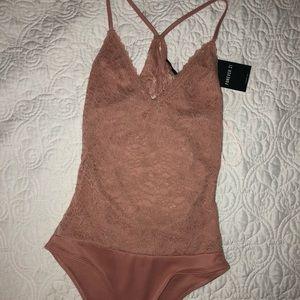 Mauve Lace Bodysuit